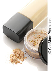 Cosmetic foundation and powder - Cosmetic liquid foundation...