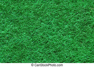 Green fibrous texture - Macro image of synthetic green...