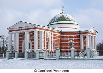 Church in winter - Church of the Transfiguration 1811-17 in...