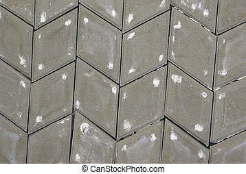 gray rhombus paving stone pattern