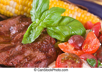 Bison Steak and Vegetables