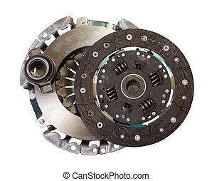 automotive engine clutch Isolated on white with clipping...