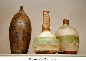 Ceramic Vases - Arrangement of three ceramic vases