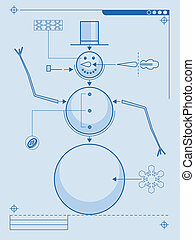 snowman diagram - Blueprint style plans for building a...