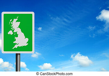 Photo realistic 'United Kingdom' sign