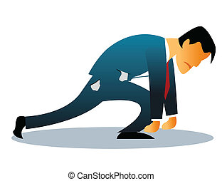 bankrupt - Illustration representing man stressed out