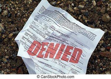 tillbakavisad, Hus, lån, ansökan