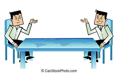 business conference - Two businessmen planning to invest...