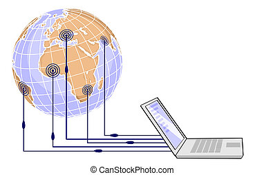 social networking - Illustrative representation of network...