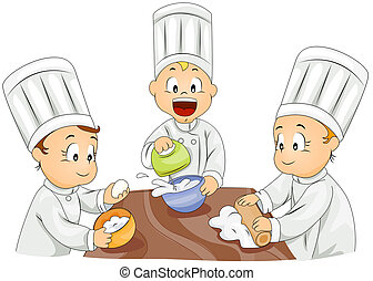 Little Bakers - Illustration of Kids Trying Their Hand at...