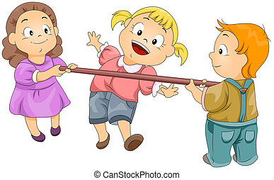 Limbo Rock - Illustration of Kids Playing the Limbo Rock