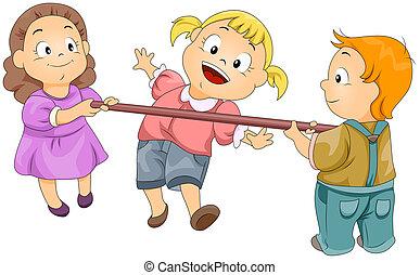 Limbo Rock - Illustration of Kids Playing the Limbo Rock
