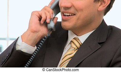 Businessman on the phone in his office