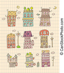 hand draw house