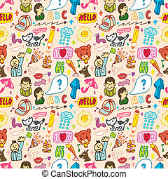 funny thing seamless,pattern(vector