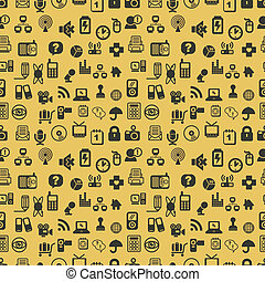 Seamless web icons pattern. Vector