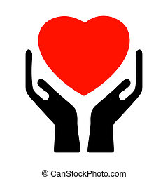 Hands holding the heart EPS 8 vector file included