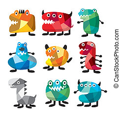 cute colorful monster  - cute colorful monster