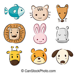 cute cartoon animals  - cute cartoon animals