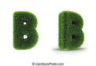 Grass Letter B