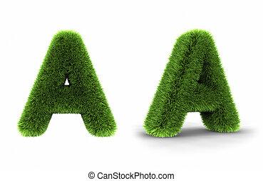 Grass Letter A