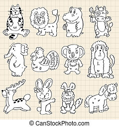 cute animals draw