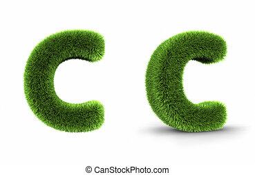 Grass Letter C