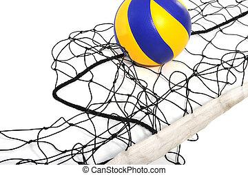 voleibol, bola, voleibol, rede