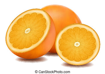 orange fruit - illustration of orange fruit on white...