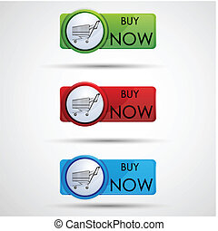 buy now tags - illustration of buy now tags on abstract...