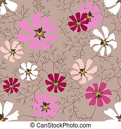 Cosmea seamless - Beautiful decorative seamless background...