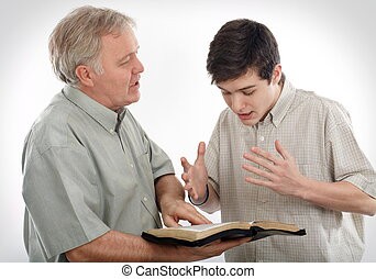 Explaining the Word of God - Father (or Preacher) explains...