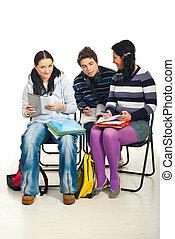 estudiantes, conversación