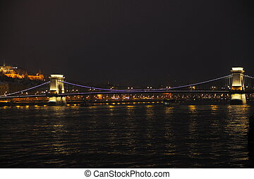 hungary budapest at night - budapest hungary capital...