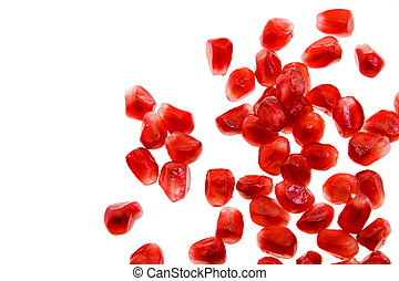 pomegranate - The red grains of a mature pomegranate...