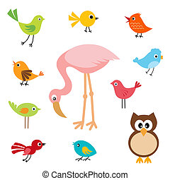 Birds - Set of cute birds