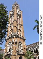 Rajabai, relógio, torre, Mumbai