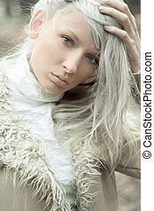 young blond lady