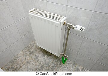 Radiator - Heating radiator in a bathroom