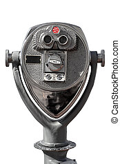 Coin-operated binoculars - Photo of coin-operated binoculars...