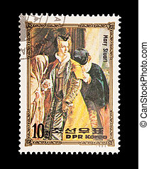 Mary Stuart - mail stamp printed in North Korea featuring...