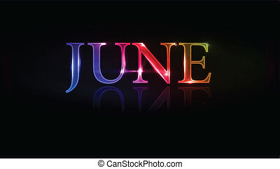 June design - vector illustration - colorful June design...