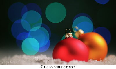 Christmas background - focus on nearest part