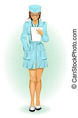 Beautiful girl nurse