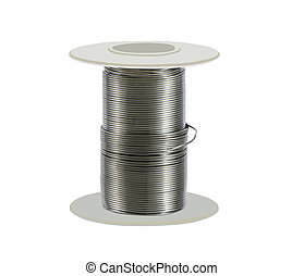solder wire - soldering wire on a white background