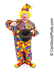 Clown Magician - Full Body - Birthday clown does a magic...