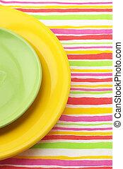 Multicolored plates