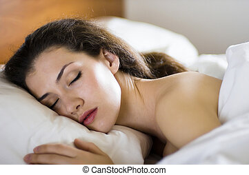 sleep - A girl is having a sleep of a just