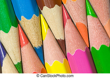 Bright mutual relations - Multi-coloured pencils are close...