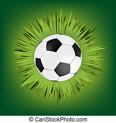 Green call out area with soccer ball. EPS 8 vector file...